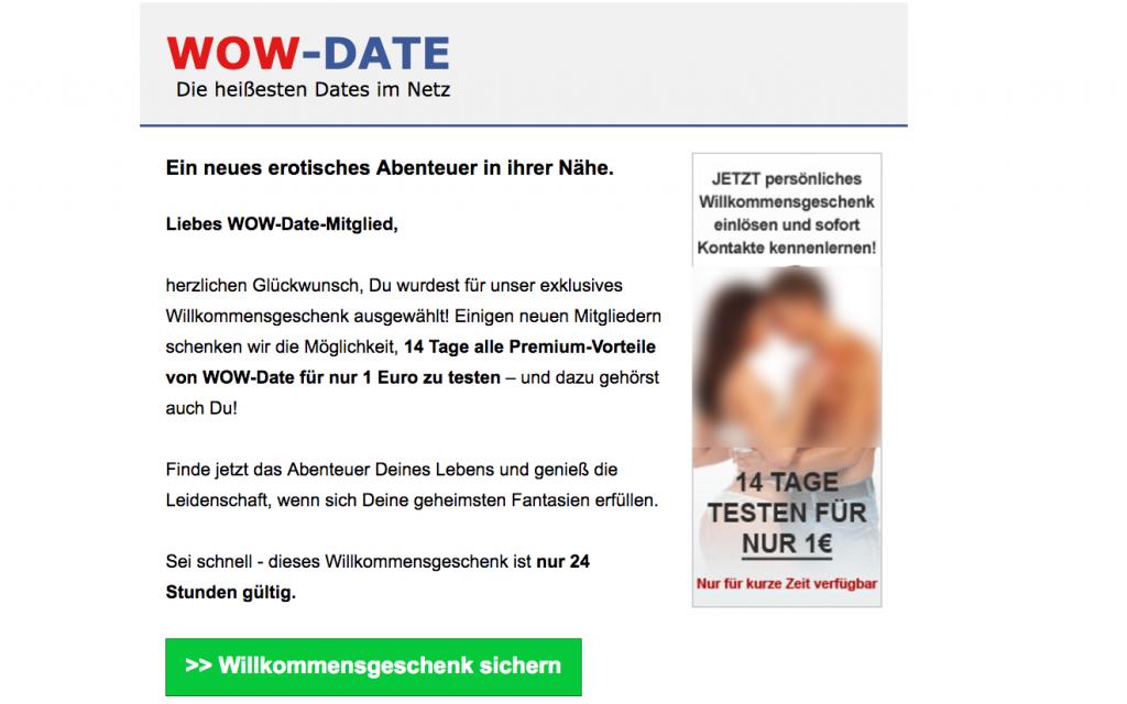 Wow-date.de der Ideo Labs GmbH: Der teure Euro - Sex-Dating im Schnupper-Abo