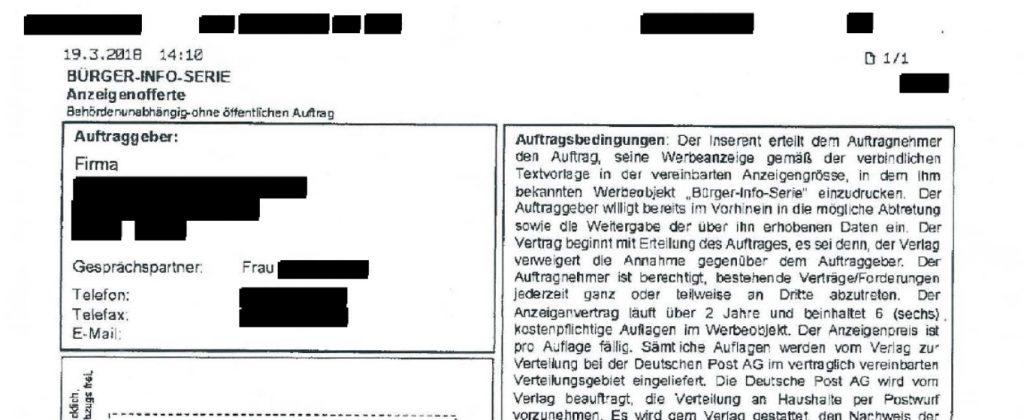 """""""Kölner Masche"""" - Arkadia Verlag GmbH verzichtet auf 5.700,- € aus Anzeigenvertrag der Wera Medienservice SRL"""